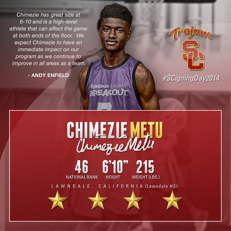 competitive price 69dfd b17af Hoops Class of '15: PF Chimezie Metu - USC Athletics