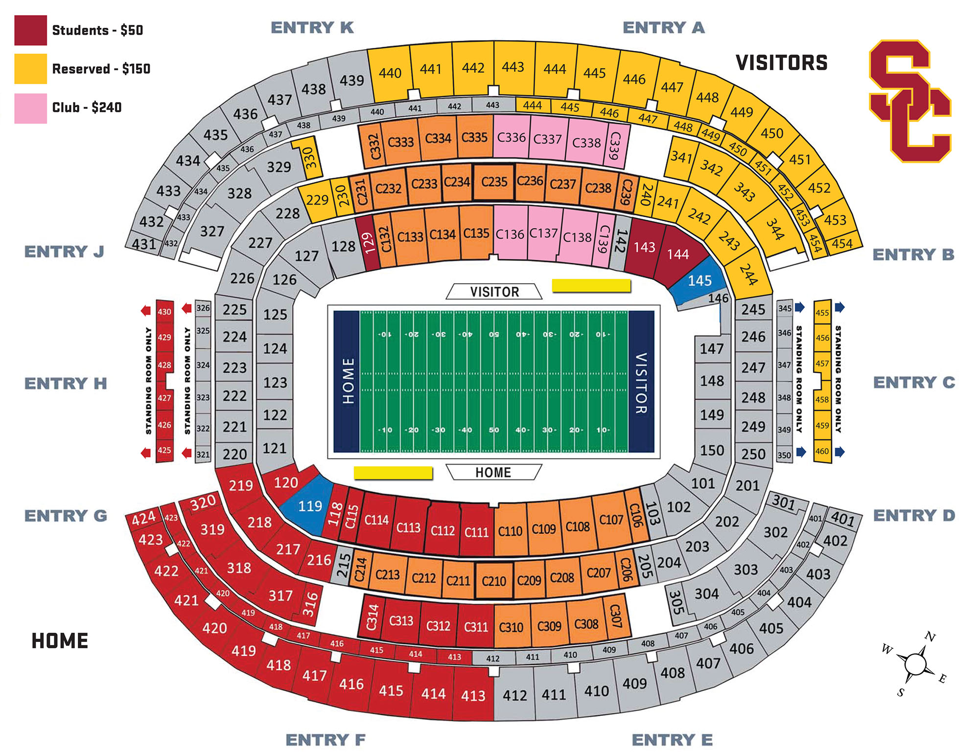 Http Usctrojans Images 2017 12 3 Cottonbowl Map Visitor Jpg