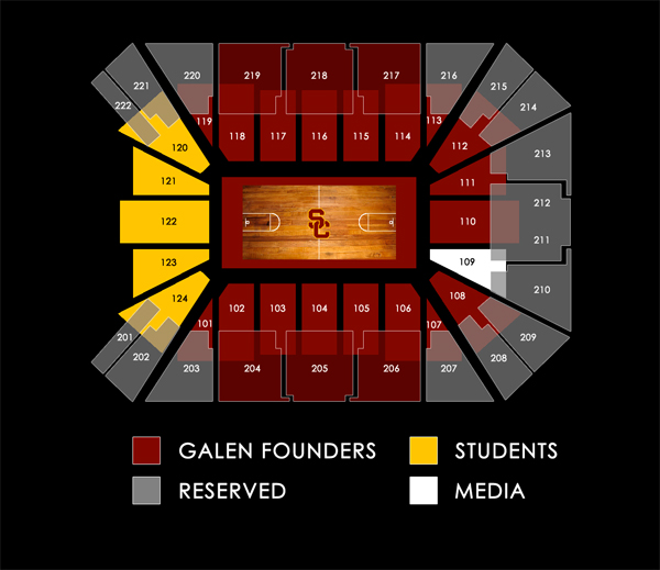 Galen Center Seating Map