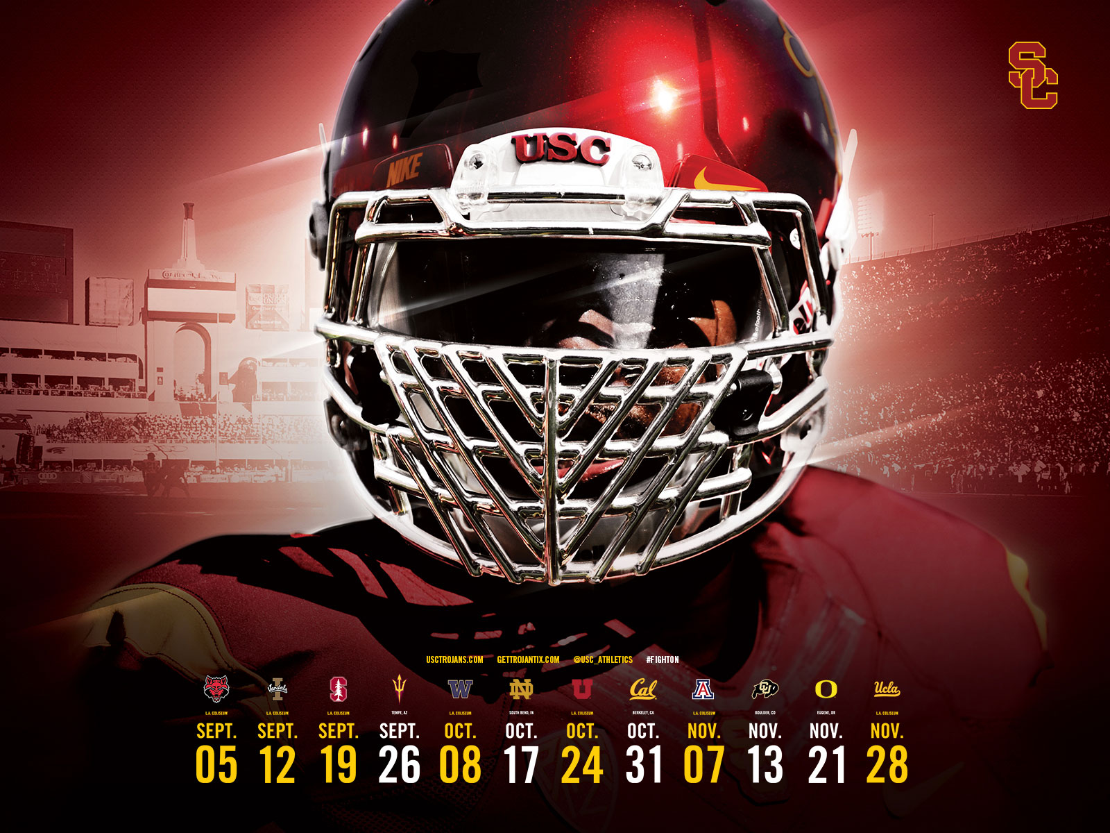 Usc Football Schedule 2020.Usc Trojans Football Schedule 2019 Usc S 2019 Football