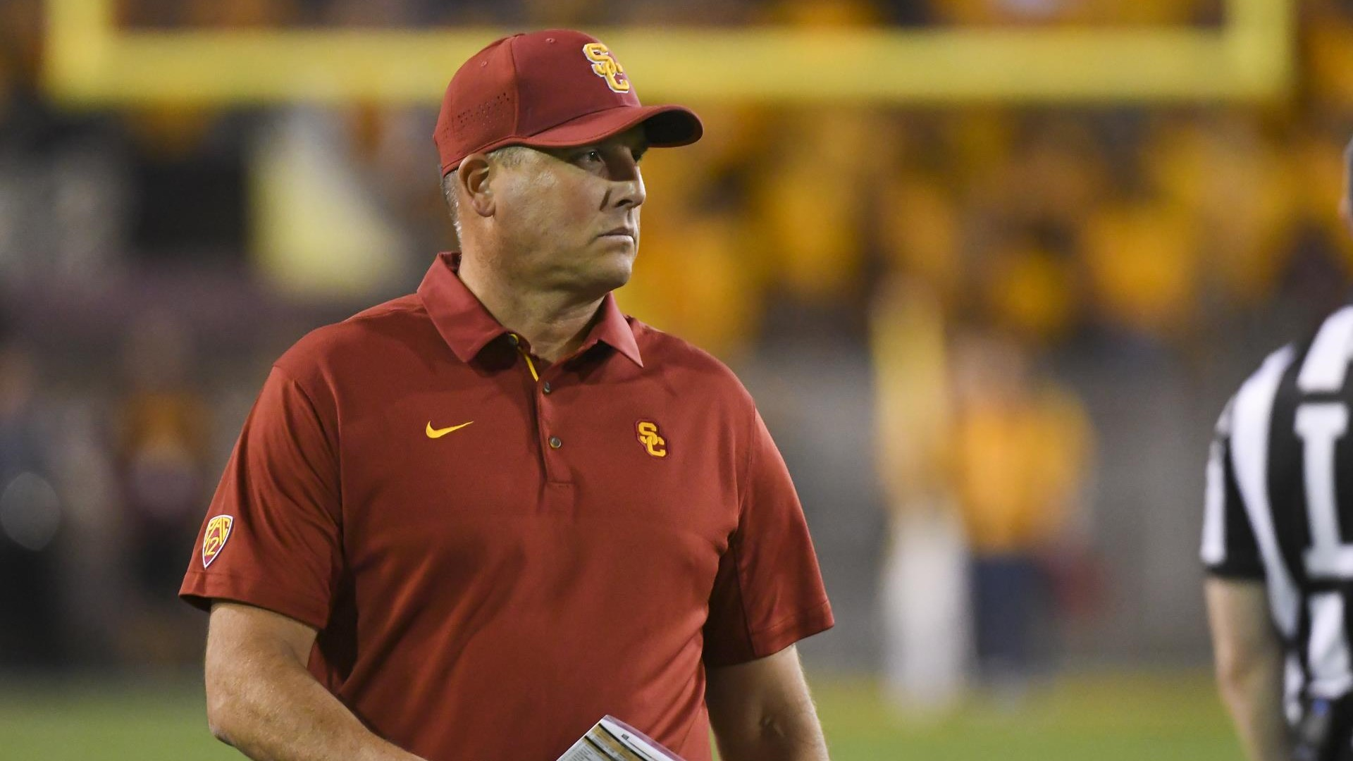 749f2a9a78d Swann   Clay Helton Will Continue To Be USC Football Coach  - USC ...