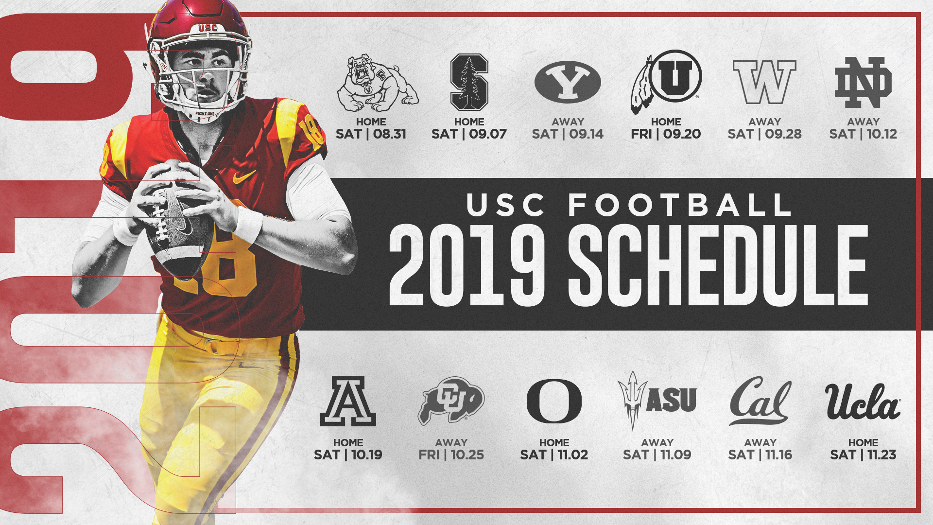 Wsu Football Schedule 2019 USC's 2019 Football Schedule Announced   USC Athletics