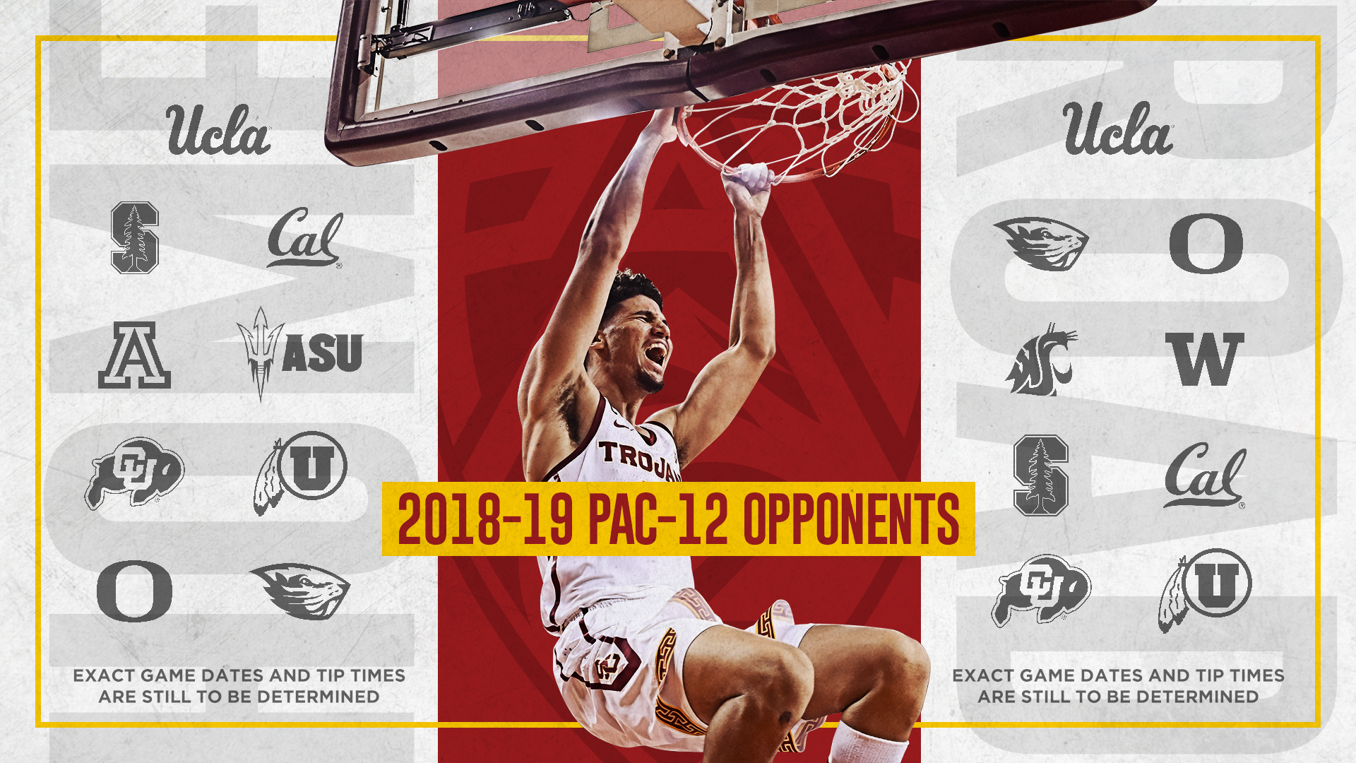 photo relating to Ku Basketball Schedule Printable called USC Announces 2018-19 Mens Basketball Timetable - USC Sports activities