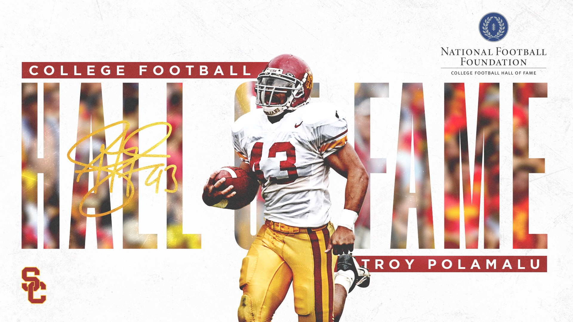 88840ea7c60 USC s Troy Polamalu Named To 2019 College Football Hall Of Fame Class