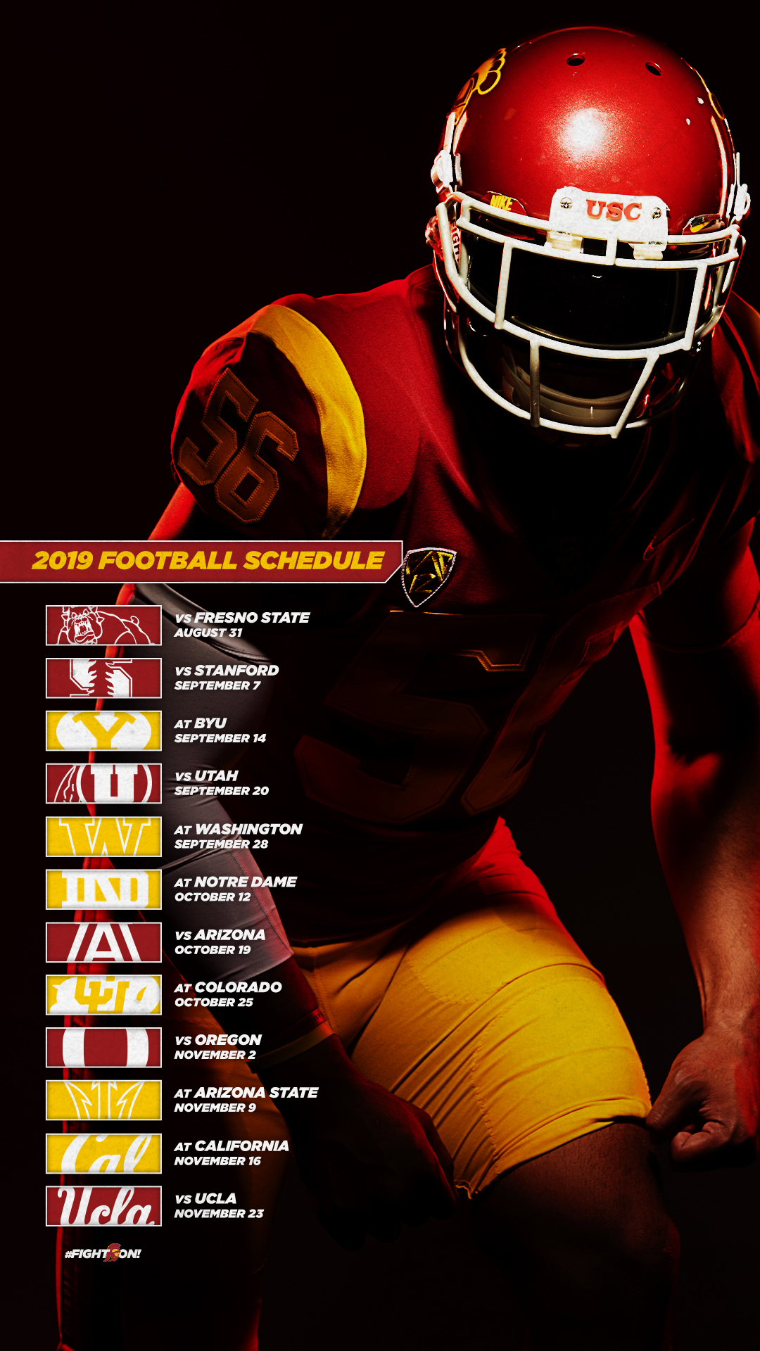 2019 Usc Football Schedule USC Trojans Phone Wallpapers   USC Athletics