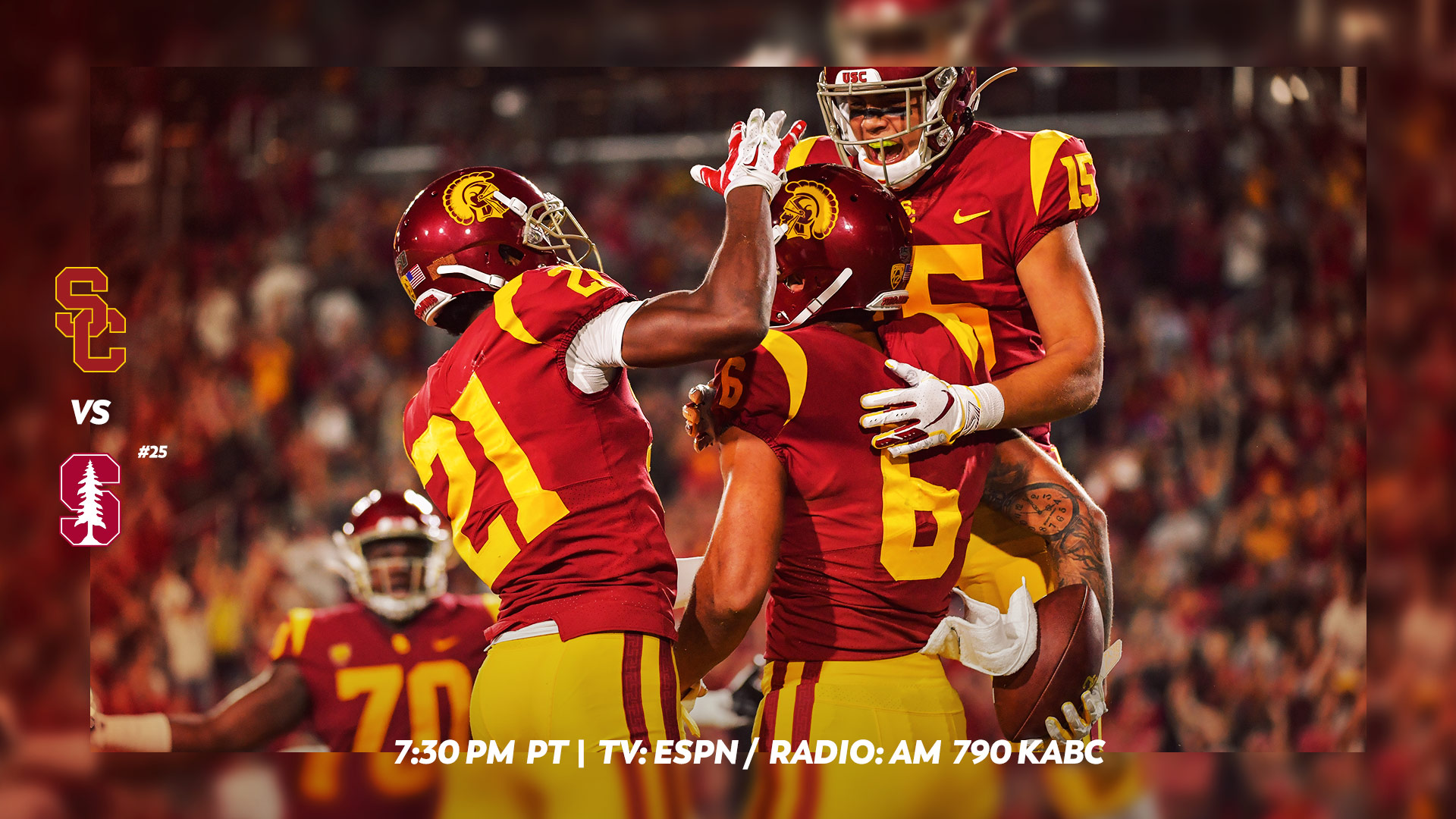 the best attitude 5e56a 3ae8e USC Football Opens Pac-12 Play Against No. 25 Stanford at ...