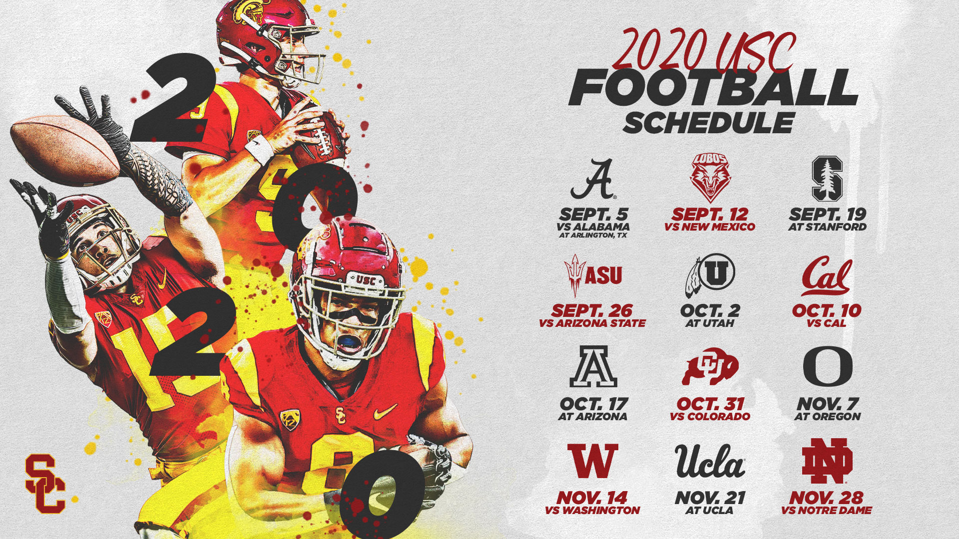 Usc S 2020 Football Schedule Announced Usc Athletics